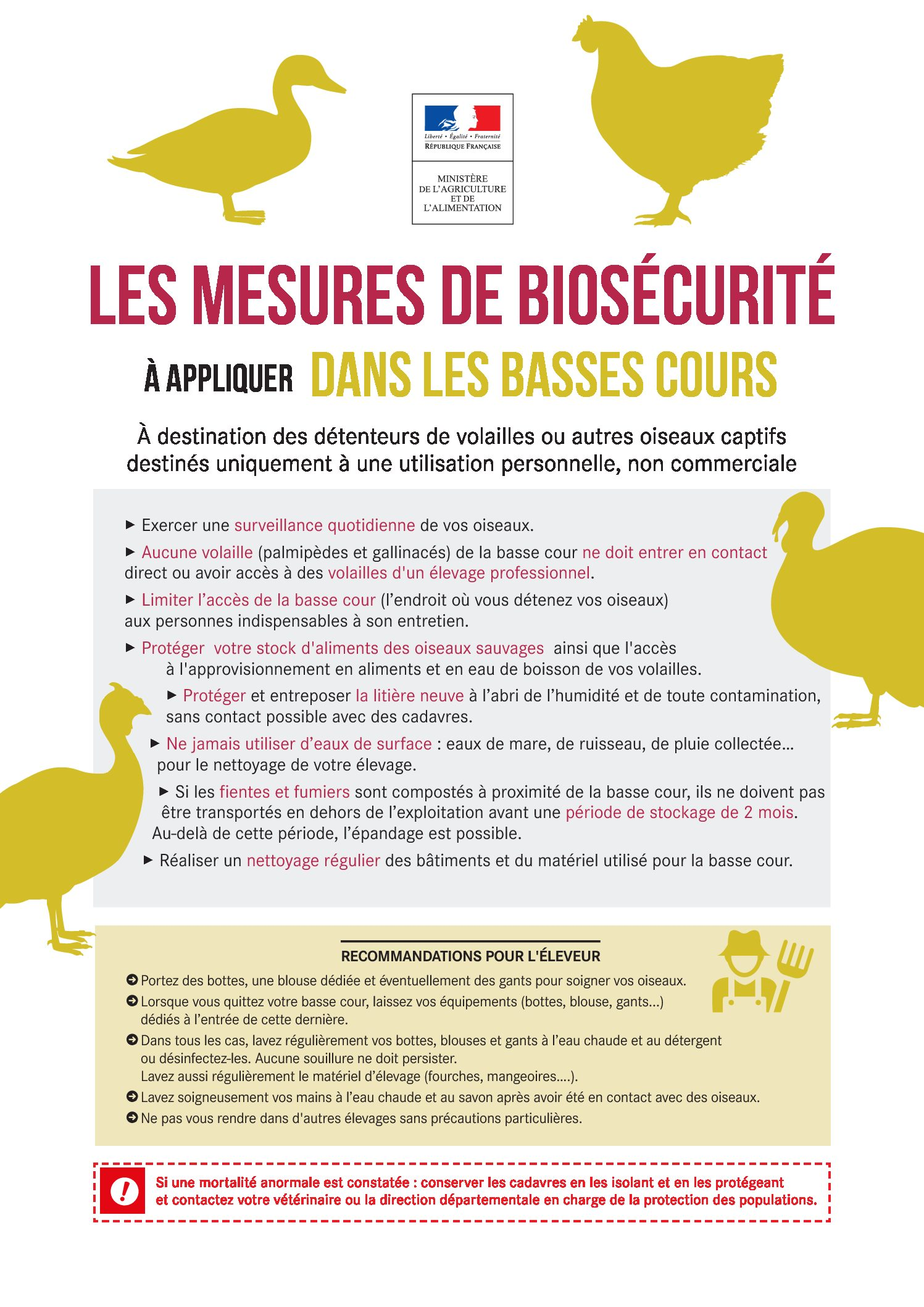 Mesures de Biosécurité à appliquer dans les basses cours